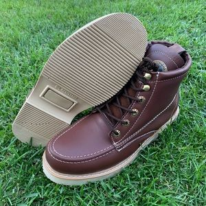 Men's Work construction Boots lace-up Bota Trabajo